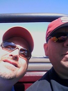Rob and I, driving through LA on our way to Death Valley, Arizona, New Mexico and ultimately - Texas!