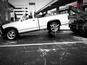 The first and only time the Diamond Dog Dodge was ever on the back of a tow truck. LOL -- ok. Wellllllll